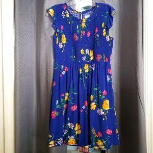 Girls Plus Size Floral Dress